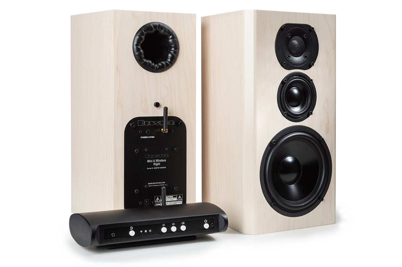 Mini A Wireless Pair Maple with Transmitter-alpha